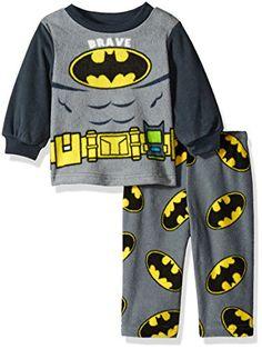 DC Comics Boys Batman 2Piece Fleece Pajama Set Gray 12 Months -- Click image for more details.Note:It is affiliate link to Amazon.