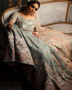"#MayaAli in #AmmaraKhan's ""Tessa"" Gown ""Il Giglio"" (The Lily), #Bridal #Couture #2016/17  #ammarakhan #mayaali #maramaabroo #karatjewellers #fanasjewellery #nabila"