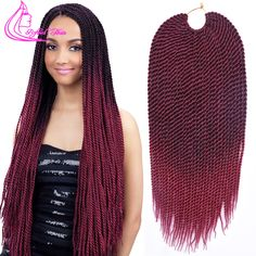 18inch Havana Mambo Twist Crochet Braid Hair Havana Twist Crochet Hair 30 Roots Senegalese Twist Hair Crochet Twist Braids Hair *** Ini pin AliExpress affiliate.  Cari penawaran hanya dengan mengklik gambar