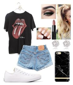 """""""Concert"""" by jillibean0025 on Polyvore featuring Converse, NARS Cosmetics, River Island, Levi's and Richmond & Finch"""