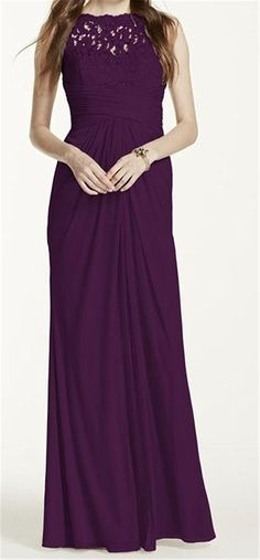 Endofjune Gorgeous Strapless Chiffon Floor-length Prom Dress US-10 Grape *** Quickly view this special  product, click the image : mother of the bride dresses