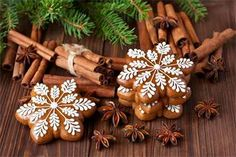 Mery Chrismas, Fancy Cookies, Cake Art, Biscotti, Gingerbread Cookies, Food Art, Projects To Try, Food And Drink, Delicate