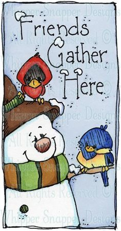 Friends Gather - Snowmen Images - Snowmen - Rubber Stamps - Shop