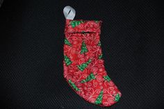 Red Christmas Tree Mini Stockings: Perfect for American Girl Dolls, stuffed animals, or little Christmas treats
