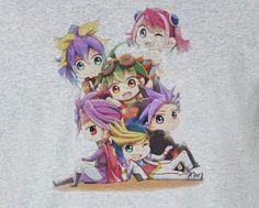 Copy of Yugioh Yu-Gi-Oh! Yuto Hiiragi Yuzu Serena chibi group T-Shirt
