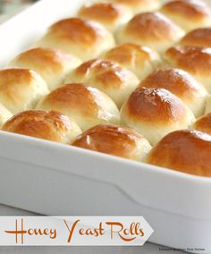 Honey Yeast Rolls - There's nothing quite like the smell of fresh bread baking, is there? It's heavenly. The recipe for these incredible honey yeast rolls came across my path through Southern Living
