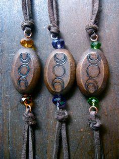 Triple Goddess Bracelet pick your color by EireCrescent on Etsy, $12.99