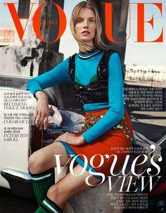 Fashion Foie Gras: The Prada SS14 collection scores another cover - Vogue Korea April 2014