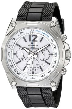 Casio Men's EFR-545SB-7BVCF Edifice Tough Solar Chronograph Stainless Steel Watch With Black Resin Band * Click on the watch for additional details.
