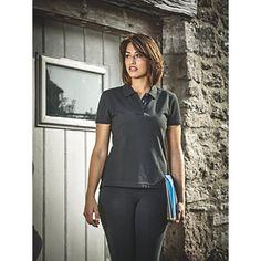 "Dickies Ladies Polo Shirt Black Large 41"" Chest | Ladies Workwear | Screwfix.com"