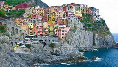 """Cinque Terre: Manarola, Italy. One of five vilages in the Cinque Terre """"The Five Lands"""" ---Monerosso al Mare, Vernazza, Corniglia, Manarola and Riomaggiore"""