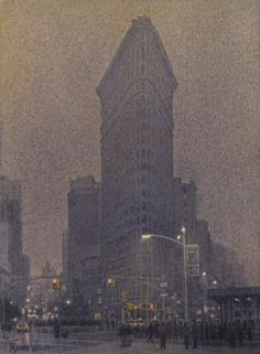 Marion  Welch, Evening Mist, Watercolor