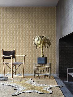 Tropical, fresh and eye-catching; this collection in collaboration with design studio Designed for Living brings your walls to life. #Wallcovering from Designed for Living, #BN