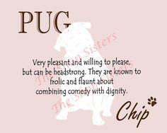 Pug Print Dog Choose Breed Personalize by TheShopSisters on Etsy, $15.00