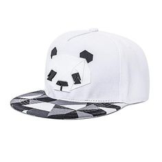 White Panda Snapback Caps (One Size - Fits All) 3D Printed  Clothing Accessories 1410fcbc4d84