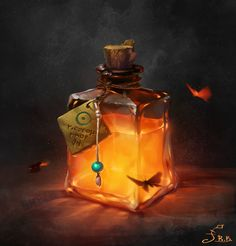 ArtStation - Magic bottles, Vera Velichko