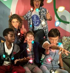 Everyone Is Being Like Super Serious and in character and then there's Gaten ❤ - Stranger Things