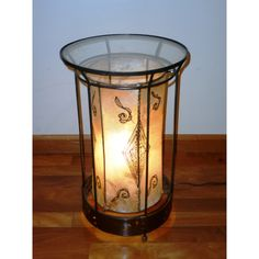 Exotic Leather 2-in-1 End Table/Lamp (Morocco)