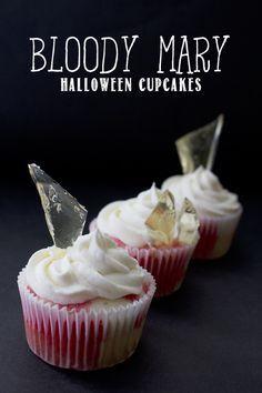 """Bloody Mary"" Cupcakes - Frightful Friday at {so sweet like sarah} #halloween #cupcakes"