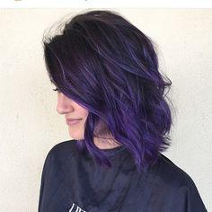 Purple hair days. Color by @beckym_hair #hair #hairenvy #haircolor #purple…