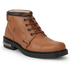 Step out in style in these Elephant Tan high ankle lace up casual shoes for men from Red Chief. The highly padded collar, upper and foot-bed will provide extreme comfort and flexibility while the lace up entry with loops adds to the style of these men's casual shoes and makes them the best pick in your men's casual shoes collection.