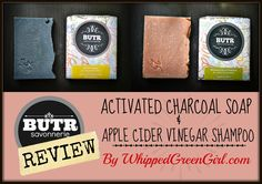 BUTR Savonnerie - Review of their Activated Charcoal Soap & Apple Cider Vinegar Shampoo Bar (#BUTR) by WhippedGreenGirl.com