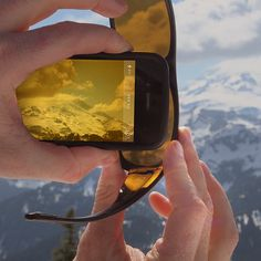 Outdoor hack: For added drama, use polarized or tinted sunglass as a camera filter.