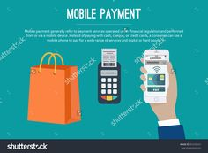 Mobile Payment Web Banner. Paying With Nfc Technology On Mobile Phone. Set Of Mobile Payment Elements, Flat Design. Vector Illustration. - 452356267 : Shutterstock