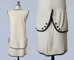 RESERVED 1920s Dress / 20s Embroidered Cream by GuermantesVintage
