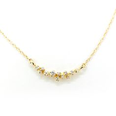 """14K Yellow Gold Large Diamond Cluster Necklace Chain length : 18"""" (with 2"""" adjuster) Cluster motif 3/4"""", 20mm) w/0.091ct (total) Dia..."""