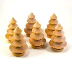 Little wooden Christmas trees