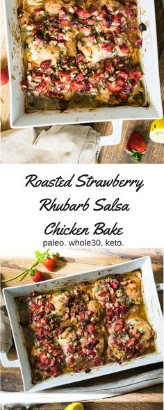 Roasted Strawberry-Rhubarb Salsa Chicken (Whole30, Keto, Paleo) – Castaway Kitchen