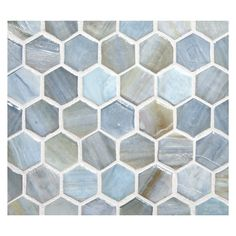 Marbleized glass for floors or walls in kitchens and bathrooms. Hexagon Mosaic Tile, Glass Mosaic Tiles, Glass Bathroom, Bathroom Ideas, Bathroom With Makeup Vanity, Simple Shapes, Recycled Glass, Tile Patterns, Kitchen Flooring