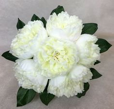 Cream White Peony Flowers Posy Artificial Silk Flower Wedding Bouquet.  in Home & Garden, Wedding Supplies, Flowers, Petals & Garlands | eBay!