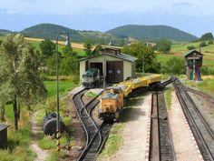 Part of the model railway layout by Czech modeller Jiri Zlamal, TT scale (1:120)