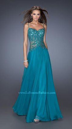 La Femme 20031 Strapless Long Prom Dress 2014