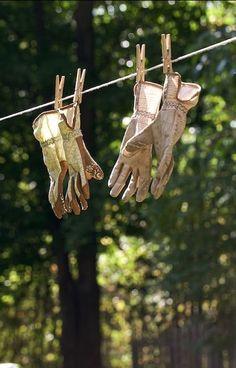 What A Nice Day, Grandmas Garden, Gardening Gloves, Green Garden, Summer Garden, Shade Garden, Clothes Line, Country Life, Country Living