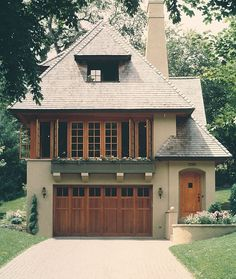 Classical House Exterior • Wooden Doors And Windows • Architecture With Romantic Feeling • Sorrounded By Green Nature