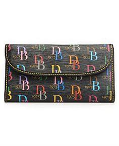Dooney & Bourke Handbag, Multi DB Clutch Wallet