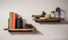 Gemini Pipe Shelves by SmokestackStudios on Etsy, $70.00