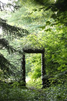 land art by Cornelia Konrads fairy portal nature land art for a magical world The Secret Garden, Secret Gardens, Land Art, Garden Gates, Garden Art, Forest Garden, Garden Entrance, Forest Path, Moss Garden