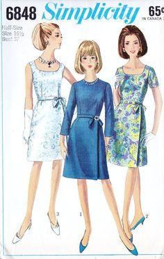 1960s Misses A Line Skirt Dress