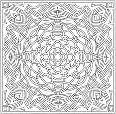 Complex Coloring Pages for Adults | Free Printable Abstract Coloring Pages For Kids
