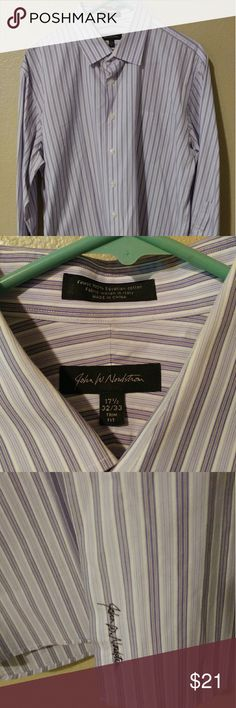 JOHN W NORDSTROM MEN COTTON TRIM FIT 17.5 JOHN W NORDSTROM MEN COTTON TRIM FIT NON-IRON ?DRESS SHIRT 17.5 32-33   IN GREAT CONDITION!!!... ***See the pictures for more details**** John W. Nordstrom Shirts Dress Shirts
