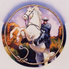 Lone Ranger   Medium: Acrylic paint & colored pencil on gessoed board  Size: 16  Year 1994