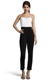 Boutique Lace Trim Tailored Jumpsuit