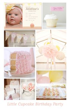 First Birthday Party or Cupcake Party Inspiration