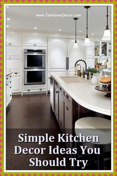 Gorgeous Kitchen Design Ideas You'll Want to Steal. Whatever your style - modern farmhouse, clean and contemporary, or preppy traditional, there will always be something for you. Decorating Kitchen, Kitchen Decor, Design Your Kitchen, Modern Spaces, Country Kitchen, Modern Farmhouse, Preppy, Your Style, Design Ideas