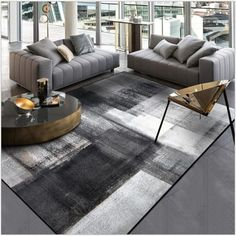 Stylish simple modern abstract Chinese ink black gray bedroom kitchen door mat living room floor mat, Your master bedroom flooring is actually important. It is the final thing that feet can touching prior to get from your. Living Room Flooring, Bedroom Flooring, Living Room Carpet, Living Room Bedroom, Rugs In Living Room, Grey Carpet Bedroom, Beige Carpet, Modern Carpet, Gray Bedroom