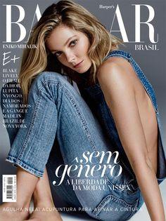 nice Eniko Mihalik covers Harper's Bazaar Brazil June 2015 by David Roemer  [Cover]